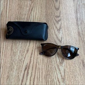 Ray ban with case and cleaning cloth